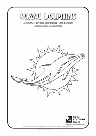miami dolphins logo coloring page for coloring pages eson me