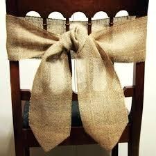 Chair Ties Plain Hessian Wedding Chair Sash Burlap Chair Sashes Diy