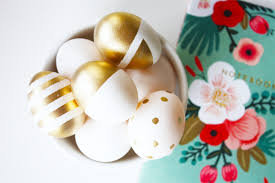 gold easter eggs chic gold white easter eggs on today kristi murphy diy