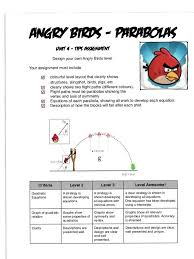 angry birds project parabolas i don u0027t even teach math but this