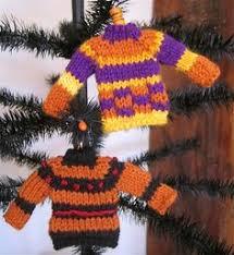 miniature sweater ornaments set of 2 mini by adelicatestitch