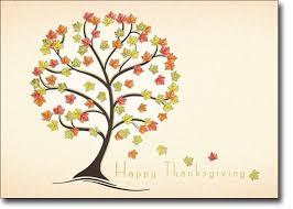 funky fall tree thanksgiving cards
