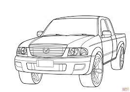 mazda b series pickup truck coloring page free printable