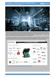 iot gateways a market overview of selected vendors v2d july 2017