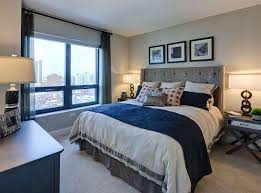chicago one bedroom apartment model bedroom at amli river north a luxury apartment community in