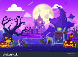 halloween town background creative illustration innovative art halloween town stock