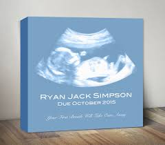gifts for expecting ultrasound canvas sonogram print baby shower gift