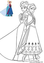 anna elsa beautiful dresses frozen coloring pages printable
