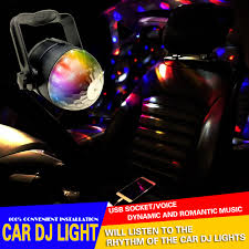 12v led disco lights 6w rgb music rhythm activated dj disco stage effects bracket line