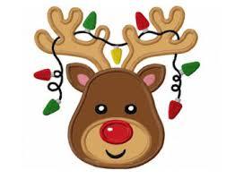 christmas reindeer reindeer applique etsy