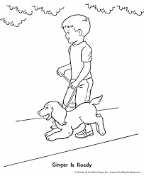 pet dog coloring pages pet dog leash coloring pages
