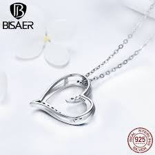 sted necklaces 925 sterling silver lover gift heart pendant necklace for women