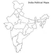 India Political Map India Tühi Poliitiline Kaart India Kaart Tühi Poliitiline Lõuna