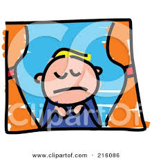 royalty free rf clipart illustration of a childs sketch of a sad