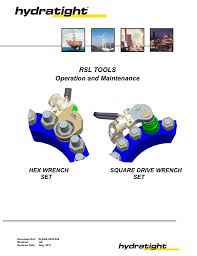 rsl tools operation and maintenance manual