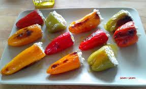 cuisiner le poivron mini poivron à la ricotta la cuisine de sam sam