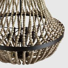 How To Make A Beaded Chandelier Large Wood Bead Chandelier World Market