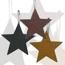 Star Shower Curtains Star Shower Curtain Hooks Primitive Home Decors