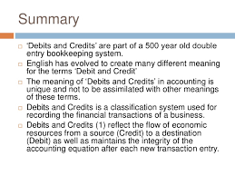 debits and credits in accounting history and definition