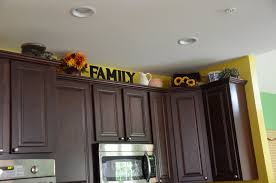 fine decor for top of kitchen cabinets ways to decorate above design