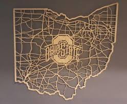 Map Ohio State by Ohio Cut Map With Ohio State Logo