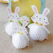 bunny decorations bunny rabbit honeycomb decorations by postbox party