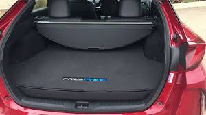 toyota prius luggage capacity toyota prius prime 2017 a look at the cargo area and