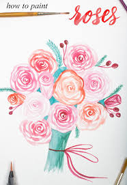 an easy way to paint rose blooms with video u2013 surely simple