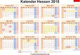 Kalender 2018 Hessen Ausdrucken Kalender 2018 Hessen Ferien Feiertage Excel Vorlagen