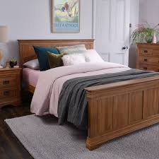 Luxury Super King Size Bed French Farmhouse Super King Size Bed Rustic Solid Oak