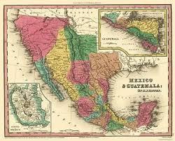 america map guatemala america map mexico and guatemala 1834 23 x
