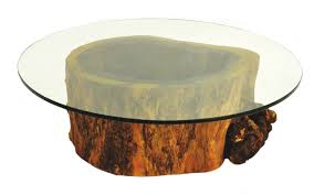 tree stump table base coffee table coffee table tree stump base with glass top tables
