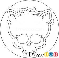 draw clawdeen logo monster