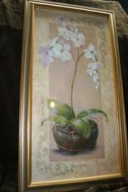 Home Interiors And Gifts Framed Art Vintage Hall Pitcher Jug Rayed Heather Pink Rose Gold Trim 40
