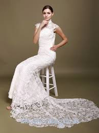 formal wedding dresses mermaid lace white sleeveless formal wedding dresses 2013 on