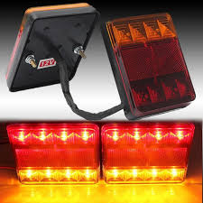 led tail lights for a trailer waterproof led tail light rear ls pair boat trailer submersible