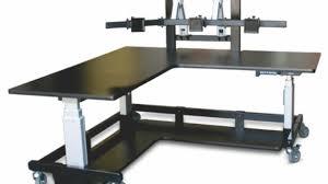 elegant multiple monitor computer desk rmgcr intended for