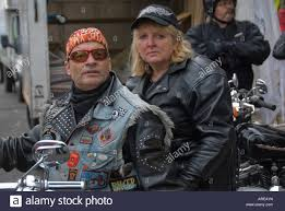 biker waistcoat biker couple on harley davidson stock photos u0026 biker couple on