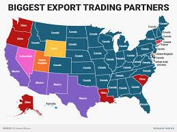 United States Canada Map by State Trading Partners Map Business Insider