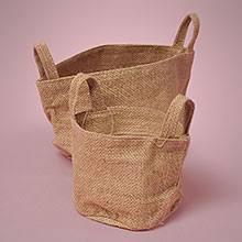 small burlap bags small burlap baskets hessian