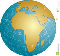 Africa On Map by Map Of Africa On Globe Royalty Free Stock Photos Image 6012368