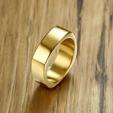 the gents wedding band gents rectangle flat top ring for men stainless steel wedding