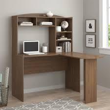 l shaped desk with hutch left return altra furniture sutton walnut desk with hutch 9883214com the