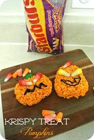 Rice Crispy Treat Pumpkins Krispy Treat Pumpkins With Starburst Candy Corns