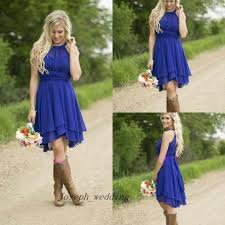 cheap royal blue bridesmaid dresses cheap country bridesmaid dress 2017 modest royal blue