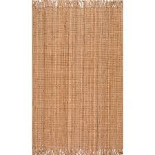 Jute Round Rugs by Braided Area Rugs Rugs The Home Depot