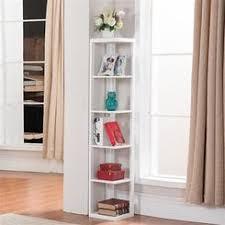 White Corner Bookcase Narrow White Corner Bookshelf