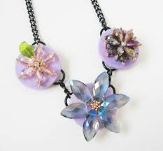 make crystal necklace images Crystal flower necklace how did you make this luxe diy jpg