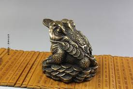 aliexpress buy antique bronze copper toad lucky cai antiques
