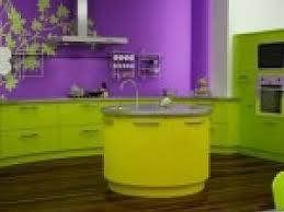 cuisine violette photo cuisine verte et violette par deco
